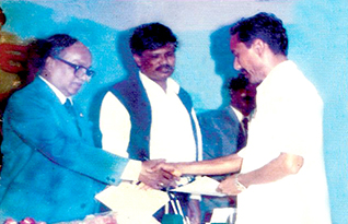 Abu Taher Sir Receiving Gold Medal from Honorable President (1st TIme)