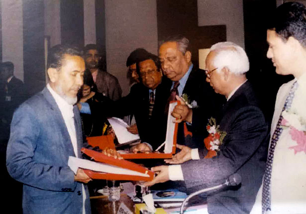 Abu Taher Sir Receiving Gold Medal from Honorable President (2nd TIme)