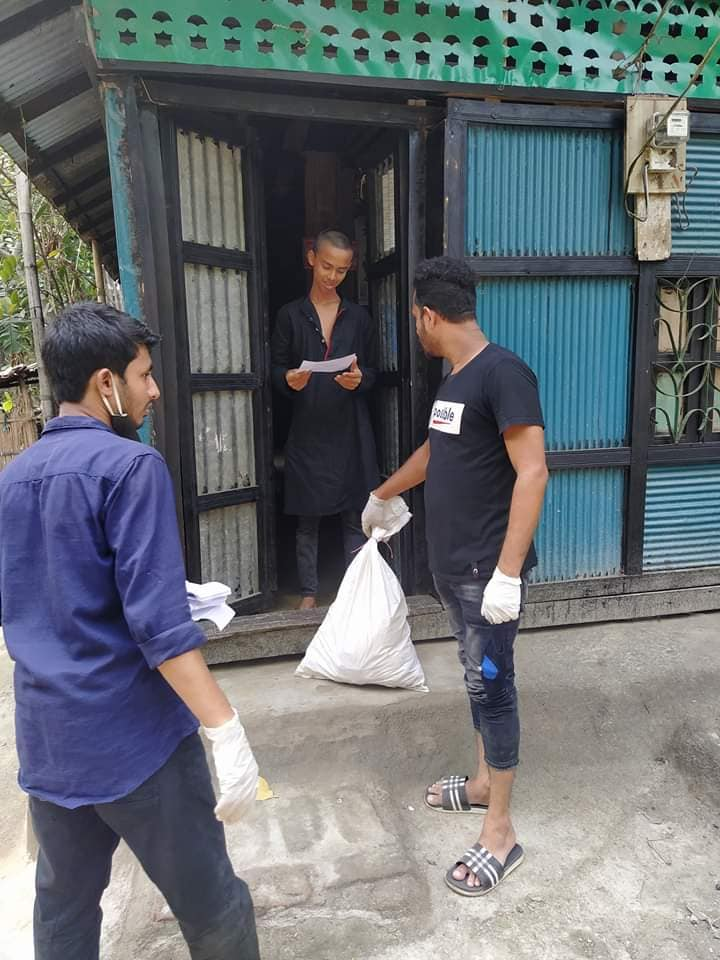 Corona Pandamic Food Supply For Helpless People in Rudrorampur, Chatkhil, Noakhali: Photo 1